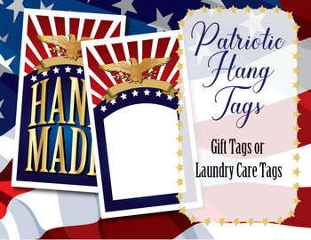 Patriotic Style Gift Tags, Laundry Care Instructions, 2 Styles • For Crafters