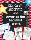 Pledge of Allegiance and America the Beautiful Booklets