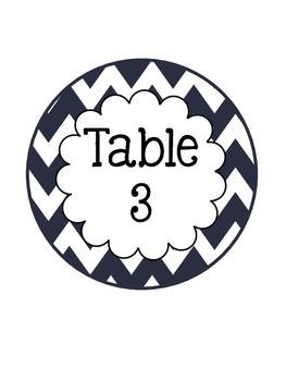 Patriotic Table Numbers