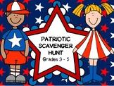 Patriotic Holiday Task Cards / Scavenger Hunt