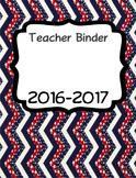 Patriotic Teacher Binder Organizer - EDITABLE
