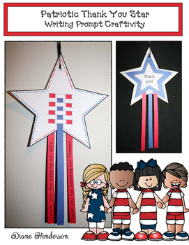 Patriotic Thank You Star Writing Prompt Craftivity (Great For Veterans Day)