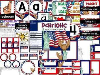 Patriotic Theme Decor {Expansion Pack}