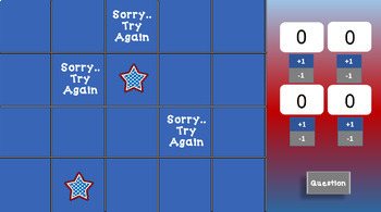 Patriotic Theme Find the Stars Game Editable Template