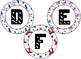 Patriotic Themed 4 inch Circular Bulletin Board Letters