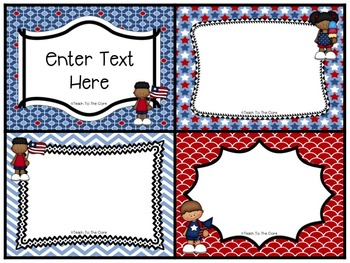Patriotic-Themed Classroom Posters ~Editable~