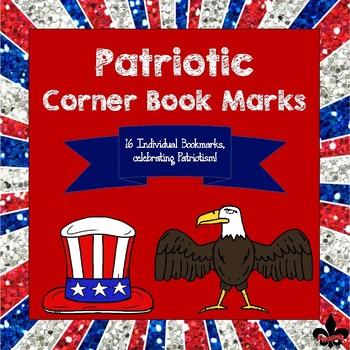 Patriotic Themed Corner Bookmarks
