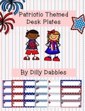 Patriotic Themed Desk Plates / Name Tags