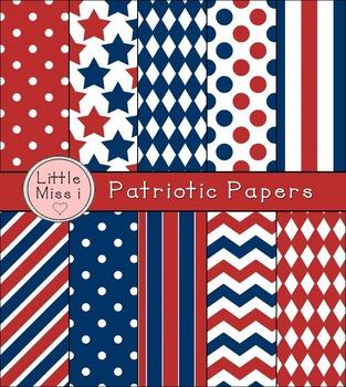 Patriotic-Themed Digital Papers
