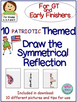 Patriotic Themed Finish the Symmetrical Picture for GT and Early Finishers