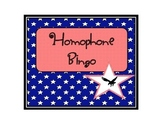 Patriotic Themed Homophone Bingo