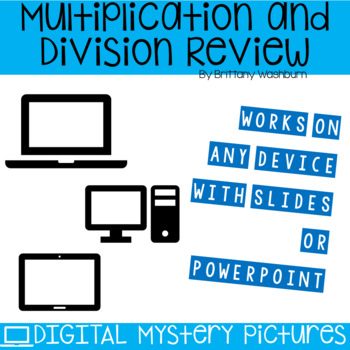 Patriotic Themed Multiplication and Division Practice DIGITAL Mystery Pictures