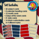 Patriotic Themed Pocket Chart Subject Schedule Cards and Calendar