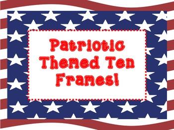 Patriotic Themed Ten Frame
