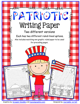 Patriotic Themed Writing Paper (4th of July-Memorial Day-Veteran's Day & More)