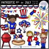 Patriotic USA Fourth Of July Celebration Clip Art