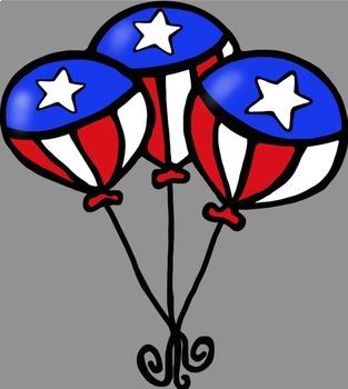 Patriotic USA Fourth Of July Celebration Clip Art
