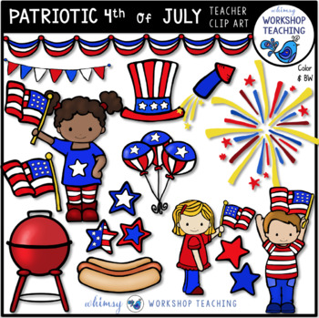 Patriotic USA Celebration Clip Art - Whimsy Workshop Teaching