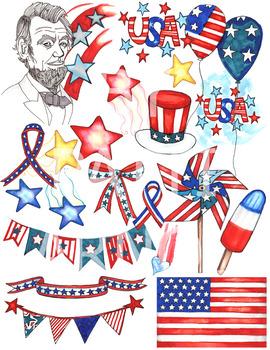 Patriotic USA ClipArt Set