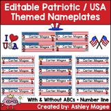 Patriotic USA Themed Nameplate/Deskplate/Nametags