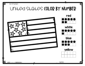 Patriotic-United States Color by Number