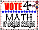 Patriotic VOTE FOR MATH Classroom Signs