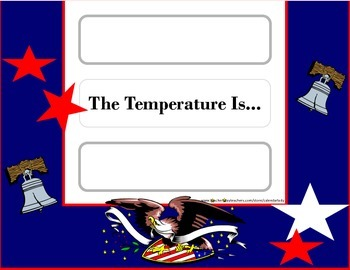 Patriotic Weather Chart! American Flag Weather Chart! Flag Theme Bulletin Board!
