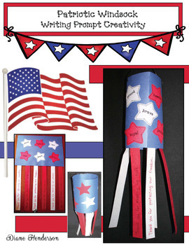 Patriotic Windsock Writing Prompt Craft (Great For Veterans Day!)