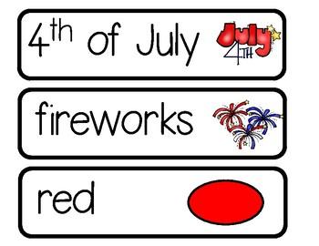 Patriotic Word Cards