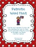 Patriotic Word Hunt/Write the Room