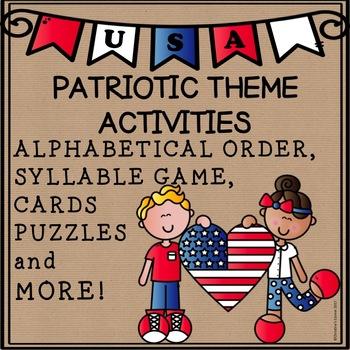 Memorial Day Patriotic Activities Literacy Worksheets Puzzles Printables