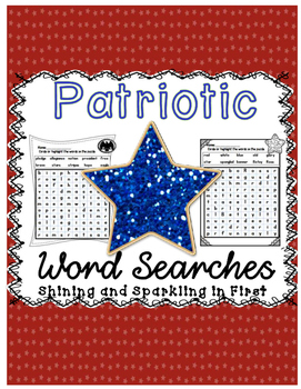 FREE Patriotic Word Searches