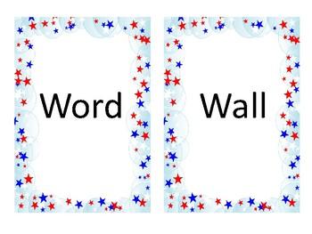 Patriotic Word Wall