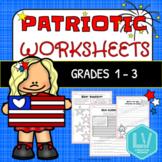 Patriotic Worksheets - Flag Day, Memorial Day Printables,