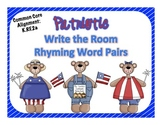 Patriotic Write the Room: Rhyming Word Pairs {FREE}