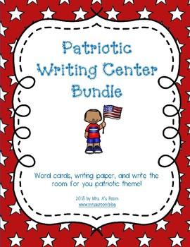 Patriotic Writing Center **BUNDLE**