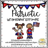 Patriotic Writing Paper & Writing Prompts - America