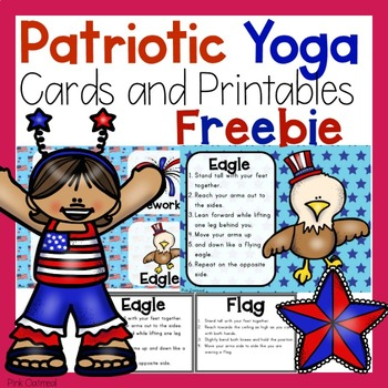 patriotic yoga cards and printablespink oatmeal