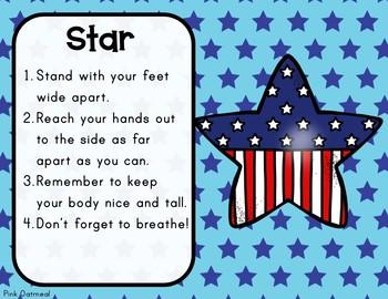 Patriotic Yoga Cards and Printables