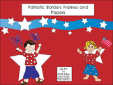 Patriotic frames borders and papers