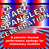 Patriotic themed script for single class or large group musical performance