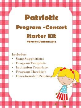 Patriotic Program-Concert Starter Kit