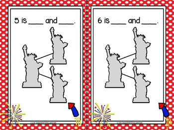 Patriotism Binds Us:  LOW PREP America Themed Number Bond Mats