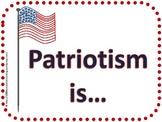 """Patriotism Is..."" ABC book template"