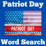 Patriots Day Activity  (Word Search)