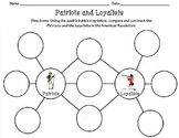 Patriots and Loyalists Double Bubble Map