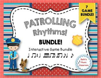 Patrolling Rhythms! Interactive Rhythm BUNDLE - 7 GAMES!