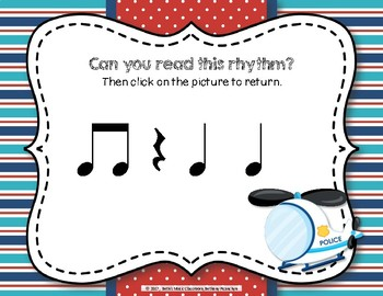 Patrolling Rhythms! Interactive Rhythm Practice Game - Ta Rest