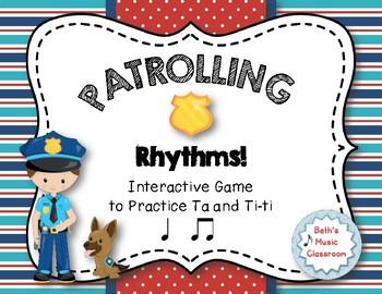 Patrolling Rhythms! Interactive Rhythm Practice Game - Ta and Ti-ti
