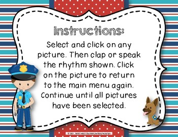 Patrolling Rhythms! Interactive Rhythm Practice Game - Ta-a